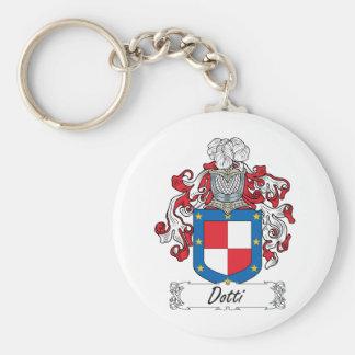 Escudo de la familia de Dotti Llavero Redondo Tipo Pin