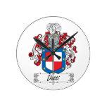 Escudo de la familia de Dotti Relojes De Pared