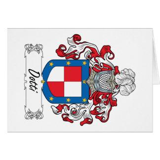 Escudo de la familia de Dotti Tarjeta De Felicitación