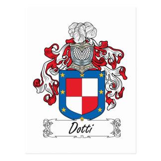 Escudo de la familia de Dotti Tarjetas Postales