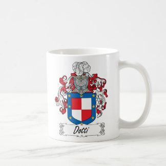 Escudo de la familia de Dotti Taza Básica Blanca
