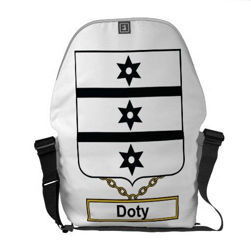 Escudo de la familia de Doty Bolsas Messenger