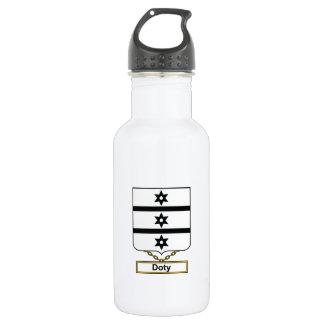 Escudo de la familia de Doty Botella De Agua
