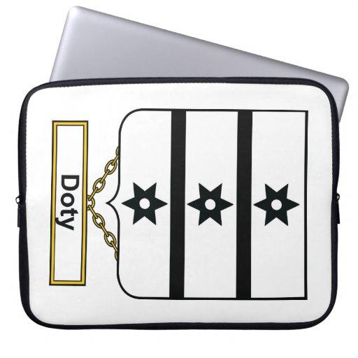 Escudo de la familia de Doty Manga Portátil
