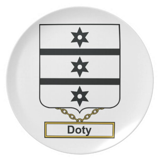 Escudo de la familia de Doty Plato De Cena