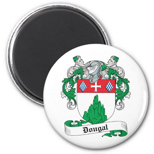 Escudo de la familia de Dougal Imán Redondo 5 Cm
