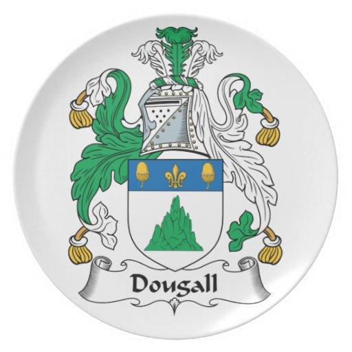 Escudo de la familia de Dougall Platos