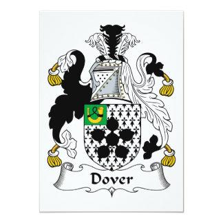 """Escudo de la familia de Dover Invitación 5"""" X 7"""""""