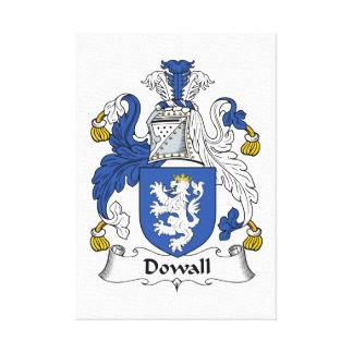Escudo de la familia de Dowall Impresiones En Lienzo Estiradas