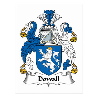 Escudo de la familia de Dowall Tarjetas Postales
