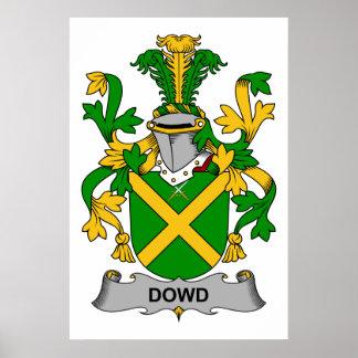 Escudo de la familia de Dowd Poster