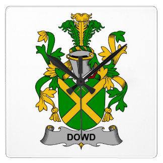 Escudo de la familia de Dowd Relojes