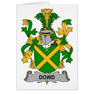 Escudo de la familia de Dowd Felicitaciones