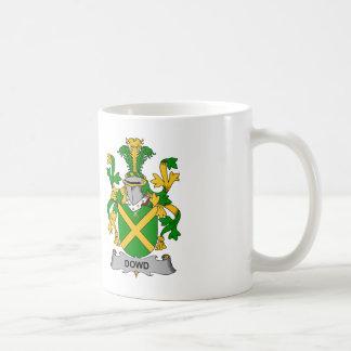 Escudo de la familia de Dowd Tazas De Café