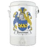 Escudo de la familia de Dowman Enfriador De Bebida Igloo