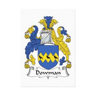 Escudo de la familia de Dowman Lona Estirada Galerias