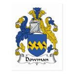 Escudo de la familia de Dowman Tarjeta Postal