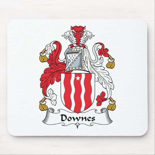 Escudo de la familia de Downes Tapete De Ratones