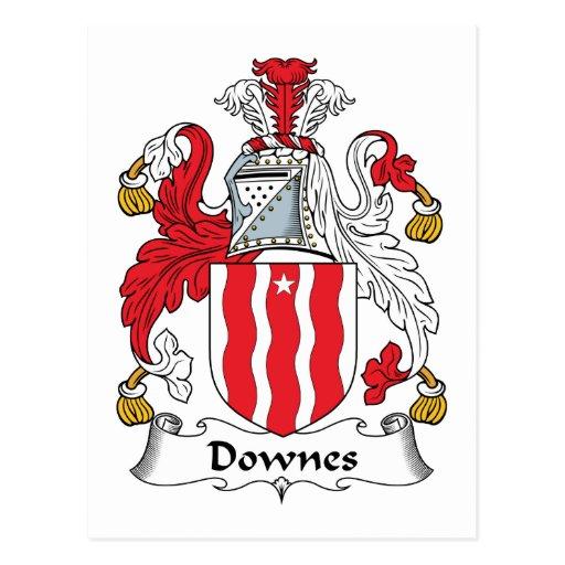 Escudo de la familia de Downes Tarjetas Postales
