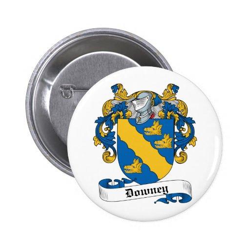 Escudo de la familia de Downey Pin Redondo 5 Cm
