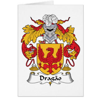 Escudo de la familia de Dragao Tarjeta De Felicitación