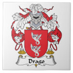 Escudo de la familia de Drago Azulejo Cerámica