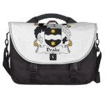 Escudo de la familia de Drake Bolsas De Ordenador