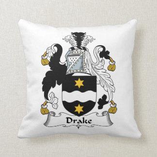 Escudo de la familia de Drake Cojín