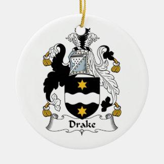 Escudo de la familia de Drake Adorno Redondo De Cerámica
