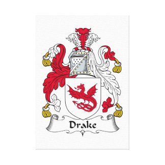 Escudo de la familia de Drake Impresión En Lienzo Estirada