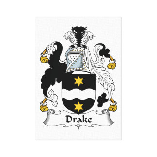Escudo de la familia de Drake Lienzo Envuelto Para Galerias