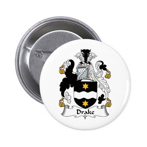 Escudo de la familia de Drake Pins