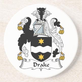 Escudo de la familia de Drake Posavaso Para Bebida