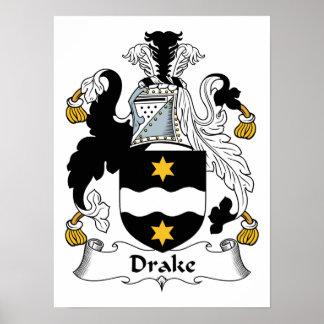 Escudo de la familia de Drake Póster