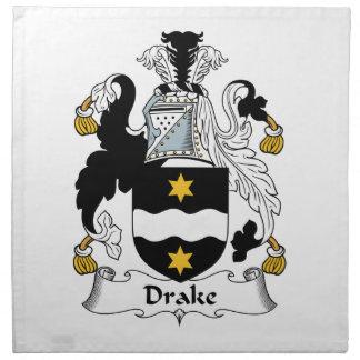 Escudo de la familia de Drake Servilletas De Papel