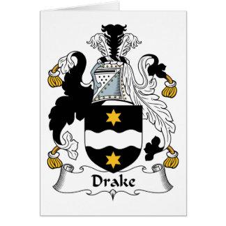 Escudo de la familia de Drake Tarjeta De Felicitación