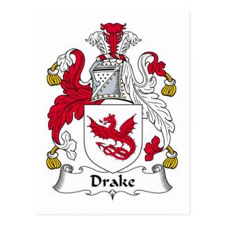 Escudo de la familia de Drake Tarjetas Postales