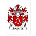 Escudo de la familia de Drangwitz Postal