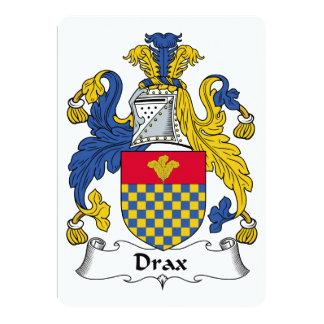 """Escudo de la familia de Drax Invitación 5"""" X 7"""""""