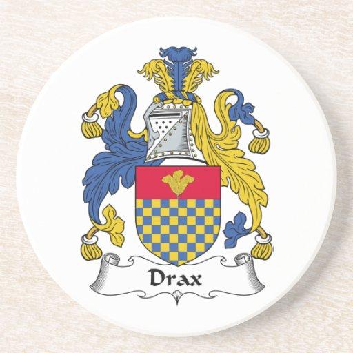 Escudo de la familia de Drax Posavasos Personalizados