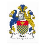 Escudo de la familia de Drax Postales