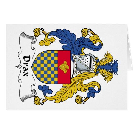 Escudo de la familia de Drax Tarjeta De Felicitación