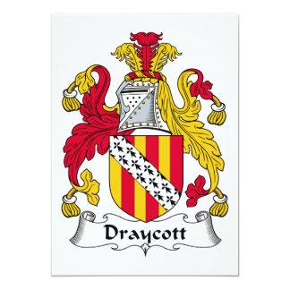 """Escudo de la familia de Draycott Invitación 5"""" X 7"""""""