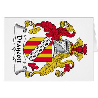 Escudo de la familia de Draycott Tarjeta De Felicitación