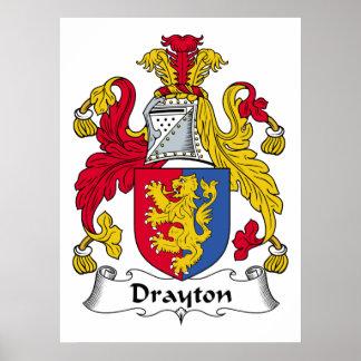 Escudo de la familia de Drayton Posters