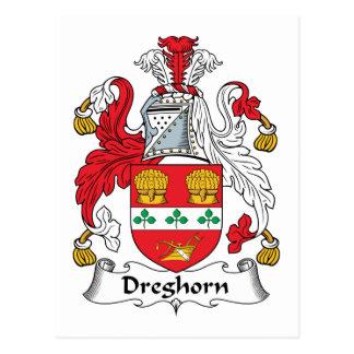 Escudo de la familia de Dreghorn Postales