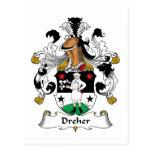 Escudo de la familia de Dreher Postal