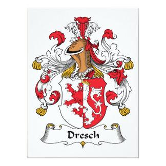 """Escudo de la familia de Dresch Invitación 6.5"""" X 8.75"""""""