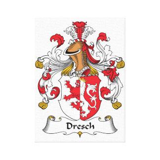 Escudo de la familia de Dresch Impresión De Lienzo