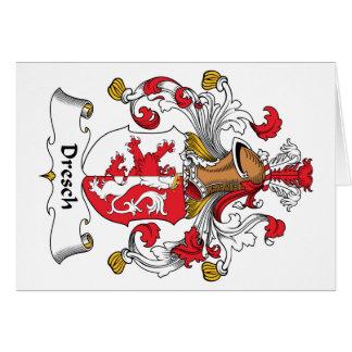 Escudo de la familia de Dresch Tarjeta De Felicitación